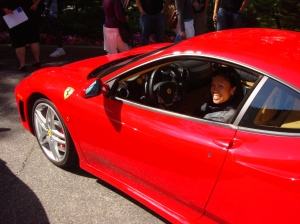 I've done some fun and crazy things as a reporter. Driving a Ferrari was one of them.