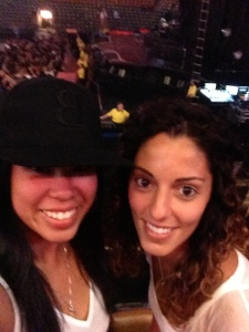 Rosalyn sports her Beyonce hat at the Mrs. Carter Show with Beyonce in Toronto, June 2013. (Rosalyn Solomon photo)