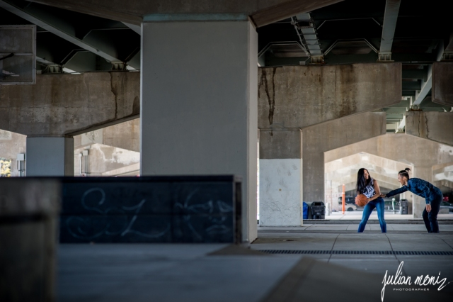 A shot from our engagement shoot at Underpass Park in Toronto. (Photo: Julian Moniz)